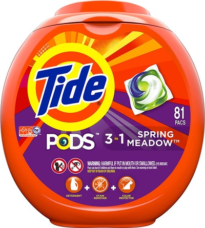 Tide PODS 3 in 1 HE Turbo Laundry Detergent Pacs, Spring Meadow Scent (81-Count)