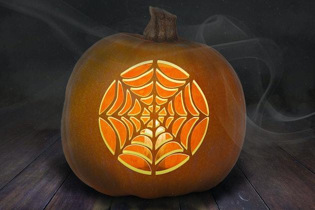 Spider web stencil pumpkin PDF design