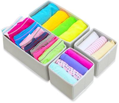 Simple Housewares Foldable Cloth Storage Boxes (4-Piece Set)