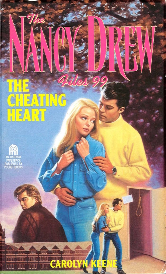 The Nancy Drew book, The Cheating Heart, by Carolyn Keene