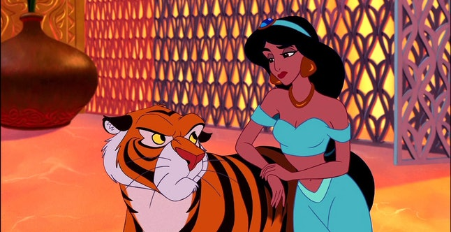 How to dress as Jasmine and Rajah from 'Aladdin' for a matching dog and owner Halloween costume.