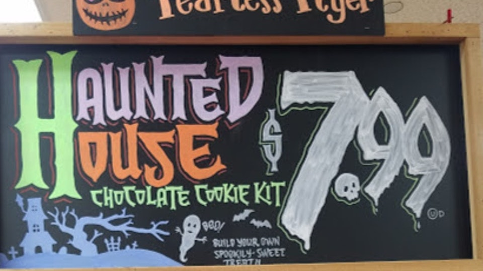 Trader Joe's haunted house chocolate cookie kits