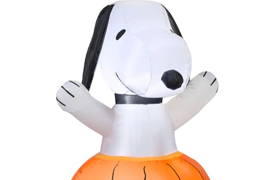 snoopy inflatable on sale at Michael's for 35 percent off