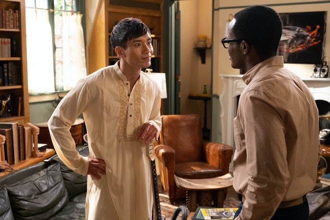 Jason and Chidi in The Good Place.