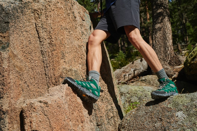 Merrell x Outdoor Voices features two new color ways in the Moab hiking boot.
