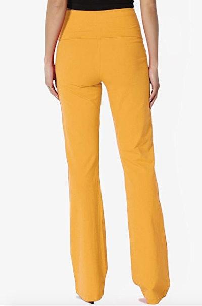 TheMorgan Stretch Cotton Foldover Waist Yoga Pants