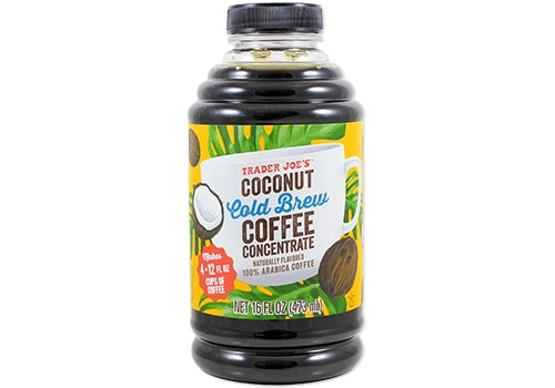 Trader Joe's Coconut Cold Brew Coffee Concentrate.