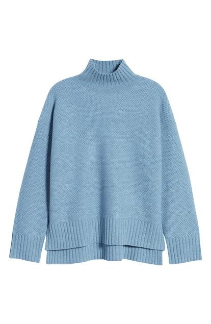 ReCashmere Textured Turtleneck Sweater