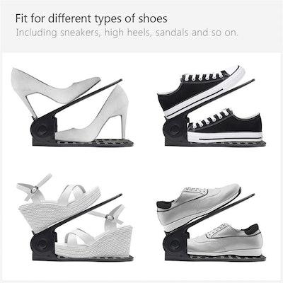 B&E Store Shoe Organizer Slots (10-Pack)