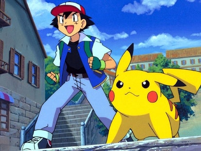 How to dress as Ash and Pikachu for a 'Pokemon'' Halloween matching dog and owner costume.