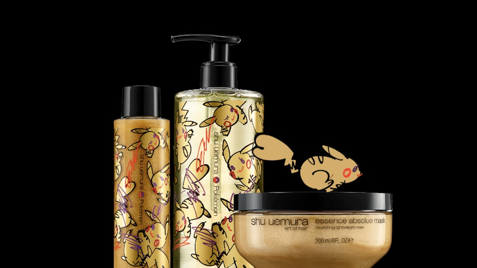 The Pokemon x Shu Uemura Art of Hair collection is here in all gold to get your hair glossy while you reminisce with Pikachu