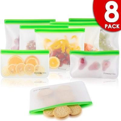 Kaizen Home Goods Reusable Food Storage Bags (8-Pack)