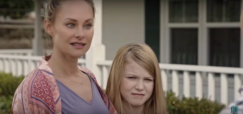 Kerry (Alyshia Ochse) and Ella return to Kerry's childhood home in Lifetime's 'Killer Contractor.'