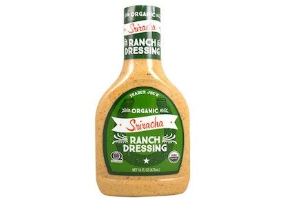 Trader Joe's Sriracha Ranch Dressing.