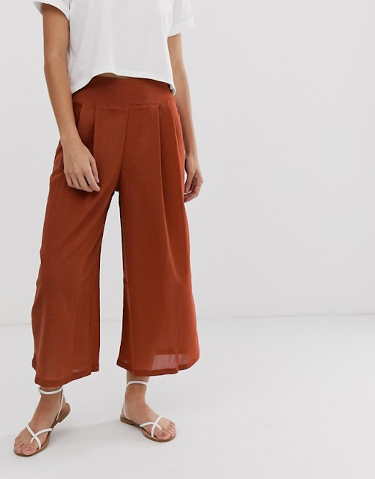 ASOS Design Textured Culotte with Button Details