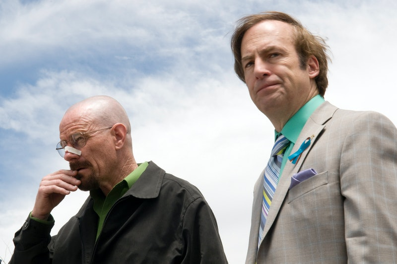 Walter White and Saul Goodman in Breaking Bad Season 4.