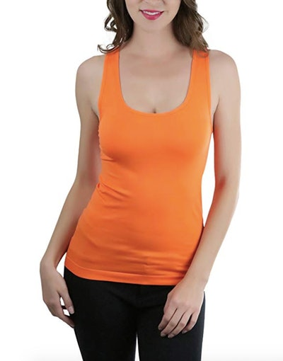 ToBeInStyle Wide Strap Racerback Form Fitting Tank Top