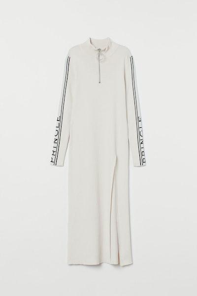 Mock-Turtleneck Dress