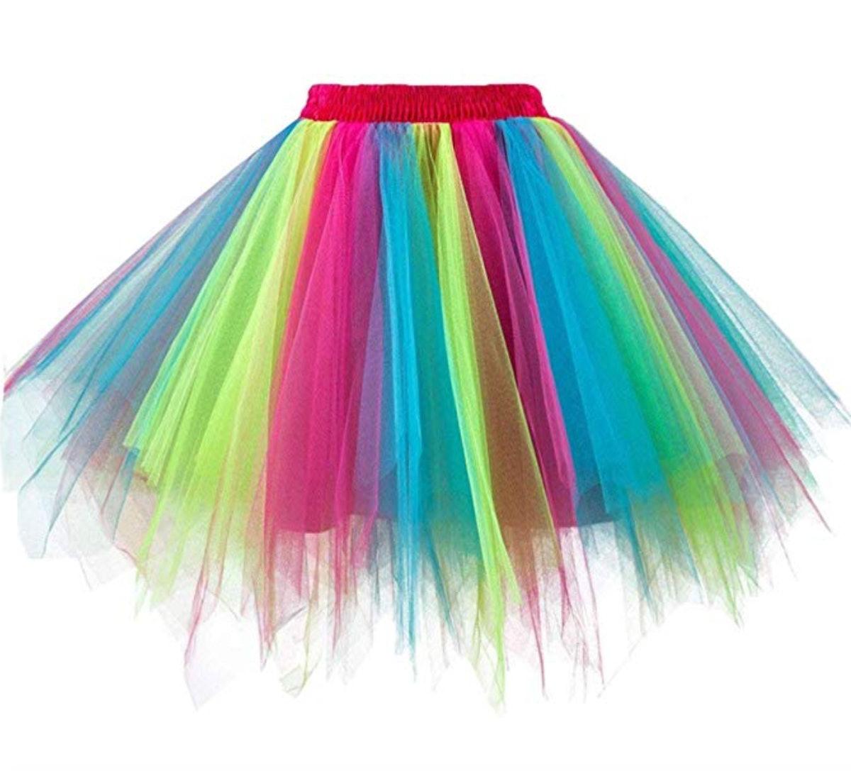 Girstunm Bubble Tutu Dance Half Slip Skirt