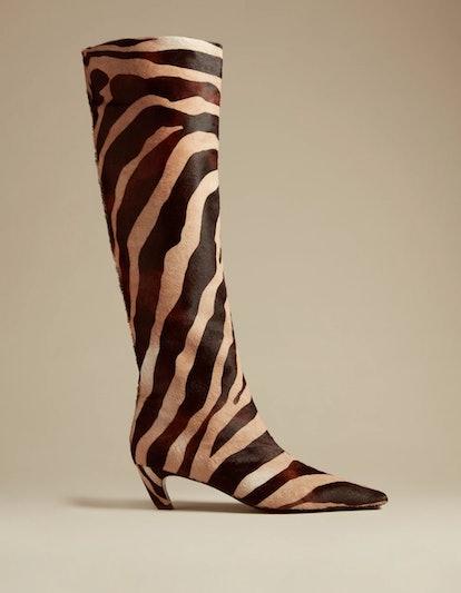 The Knee-High Boot in Zebra Haircalf