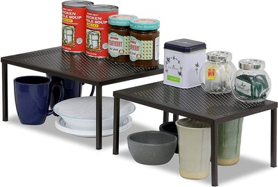SimpleHouseware Expandable and Stackable Kitchen Shelf Organizer