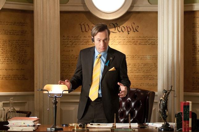 Saul Goodman in his office in Breaking Bad.