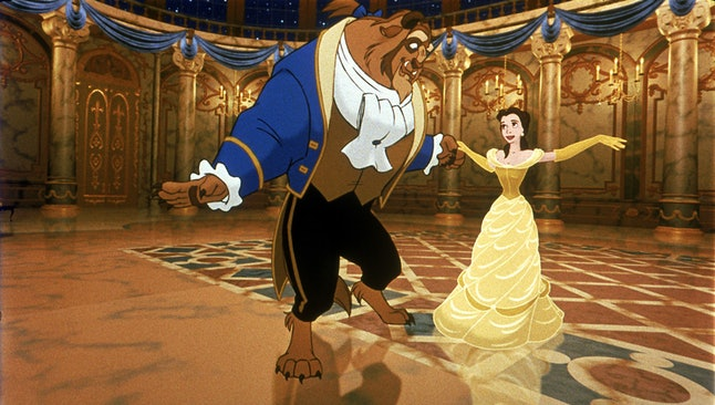 How to dress as 'Beauty and the Beast' for a matching dog and owner costume for Halloween.
