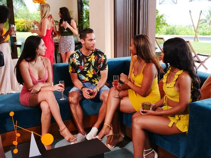 David, who is part of a couple, chats with the singles on Temptation Island Season 2