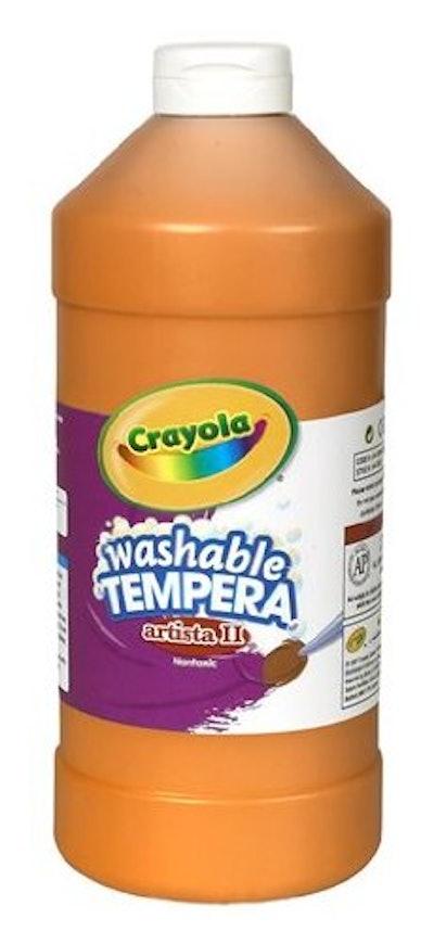 Crayola Washable Orange Tempera Paint