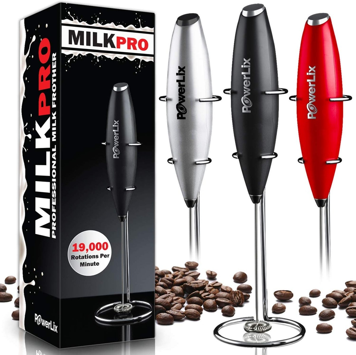 PowerLix Milk Frother Battery Operated