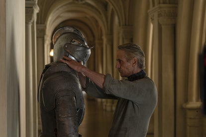 Jeremy Irons as Adrian Veidt/Ozymandias with his clone servant in HBO's Watchmen