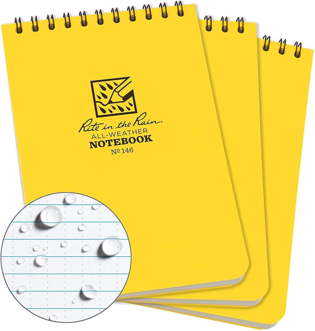 Rite in the Rain Weatherproof Notepad (3-Pack)