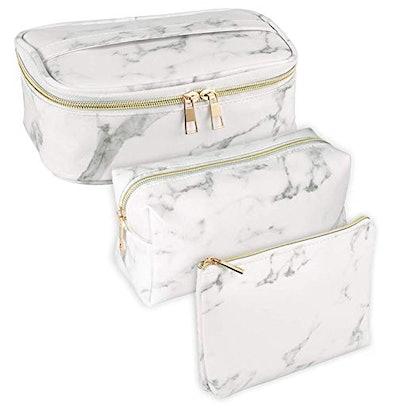 SUBANG Marble Makeup Bag Toiletry Bag (3-Pack)