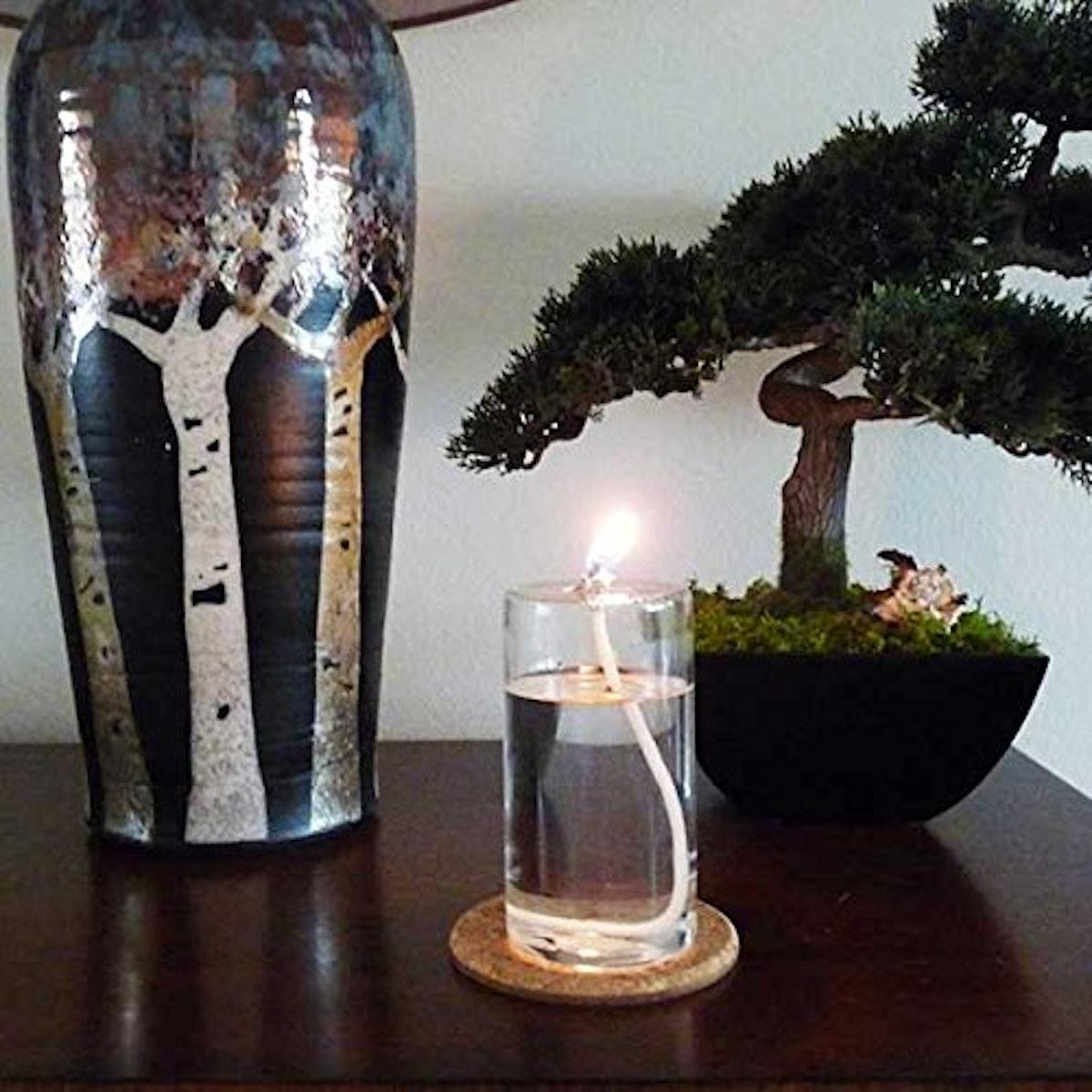 Firefly Refillable Glass Pillar Candle