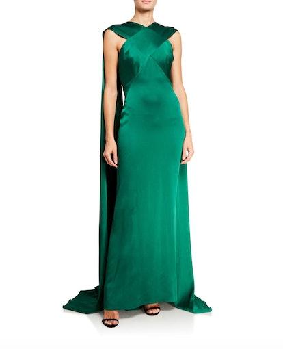 Draped Crisscross Gown