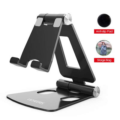 Adjustable Cell Phone Stand, licheers Multi-Angle Cell Phone Holder, Cradle, Dock, Stand Compatible ...