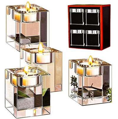 Le Sens Crystal Candle Holders (4-Pack)