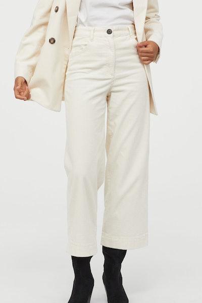Cotton Corduroy Trousers