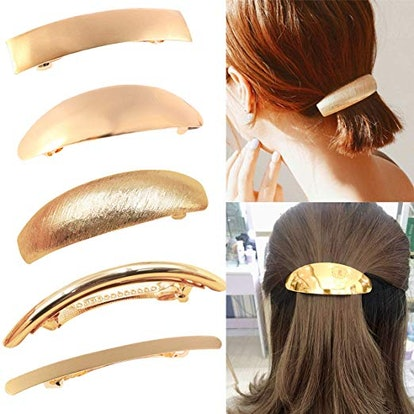 DeD Large Hair Barrettes (5-Pack)