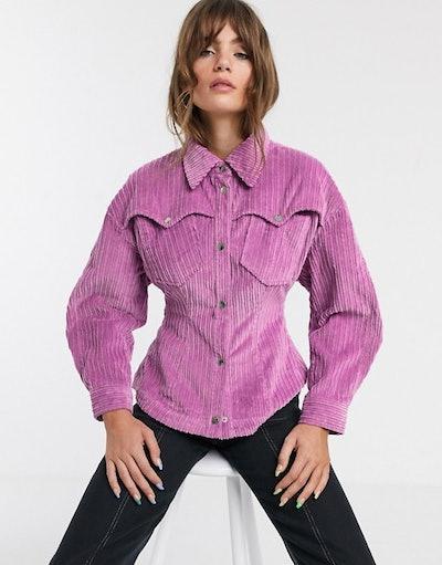 Bold Shoulder Cord Shirt
