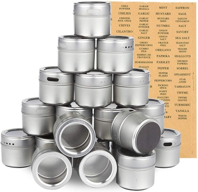 Juvale Magnetic Spice Containers (Set of 20)