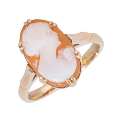 Pre-Owned 9ct Yellow Gold Cameo Dress Ring