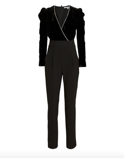 Cleo Velvet and Crepe Jumpsuit