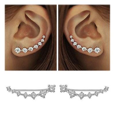Elensan 7 Crystals Ear Cuffs