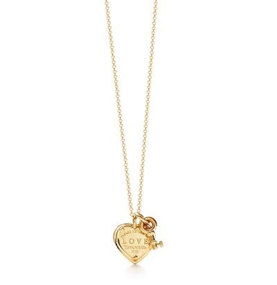 Love Heart Tag Key Pendant