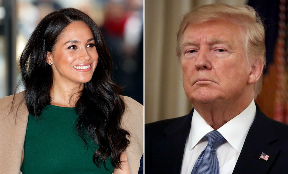 Meghan Markle and Donald Trump, who said Meghan was taking press too personally.