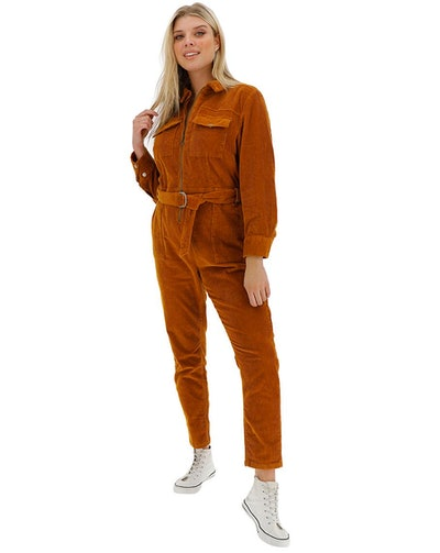 Ginger Stretch Cord Boilersuit