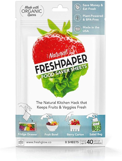 FRESHPAPER Food Saver Sheets for Produce (Package of 8)