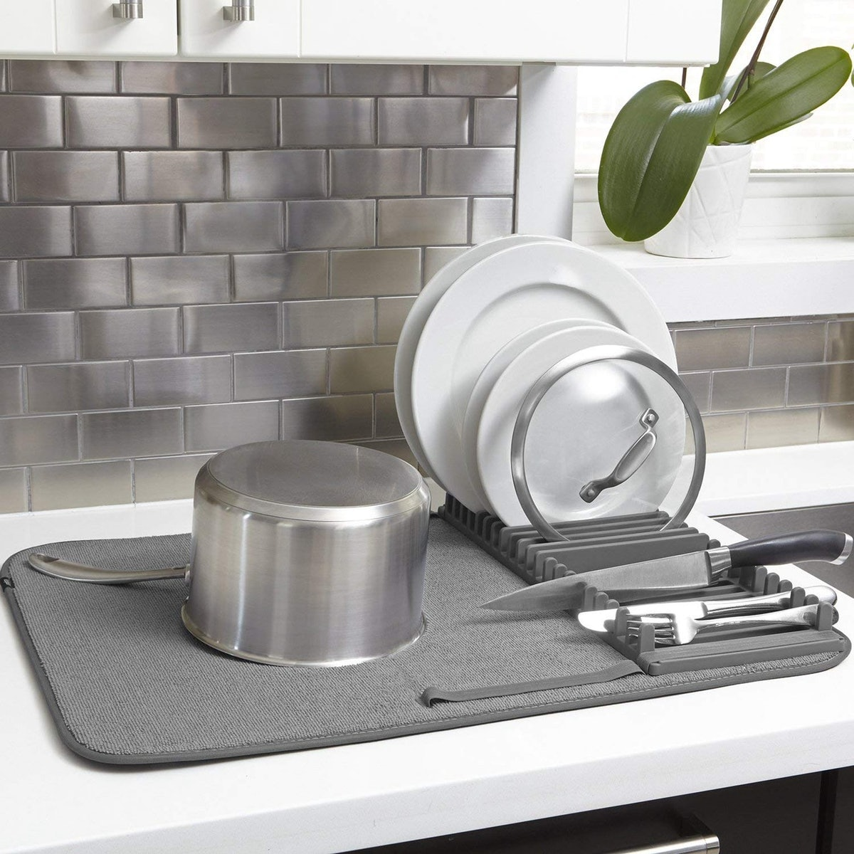 Umbra Drying Rack and Microfiber Dish Mat