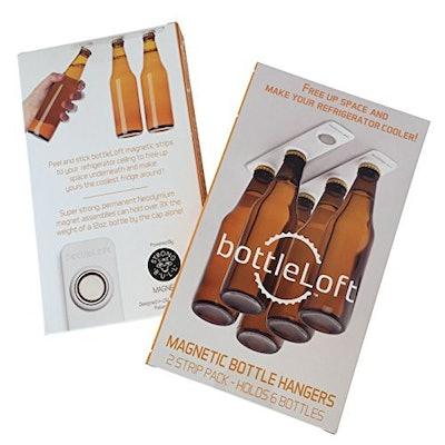 BottleLoft by Strong Like Bull Magnets, the original Magnetic Bottle Hanger, 2 Strip Pack (holds 6 b...